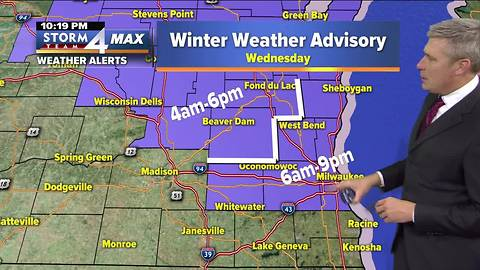 Winter Weather Advisory issues for the area overnight