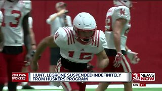 Two Huskers suspended