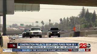 Construction projects using funds from SB1