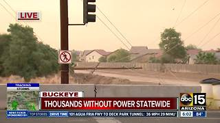Thousands wake up without power in Buckeye storms