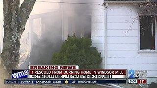 Man pulled from house fire with life threatening injuries in Windsor Mill