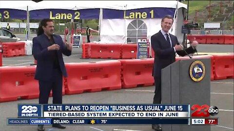 Governor Newsom announces California will be fully open on June 15