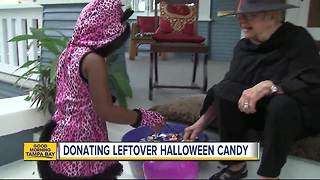 How to donate your leftover Halloween candy - Video