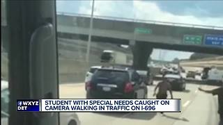 Video shows special needs teen walking in middle of metro Detroit highway - Video