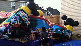 Bounce House Goes Down - Video