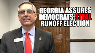 GA Secretary of State ASSURES Democrats STEAL Runoff Election