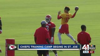 Chiefs training camp begins in St. Joe - Video