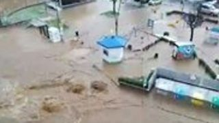 Heavy Rain Floods Streets in Northern Italian Town of Rosta - Video
