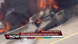 2 lanes of WB I-696 at Woodward open after fire - Video
