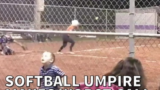 Softball Umpire Makes Worst Call You've Ever Seen - Video