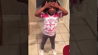 Little Girl Loves Her 'Dazzling' New Hairdo - Video