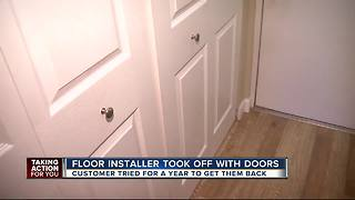 Homeowner learns lesson after handyman runs off with closet doors - Video
