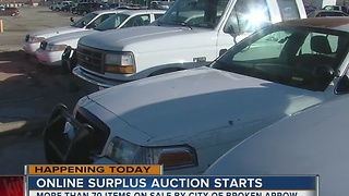 Broken Arrow's surplus auction starts - Video