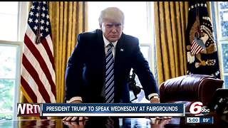 President Trump to speak at Indiana State Fairgrounds - Video