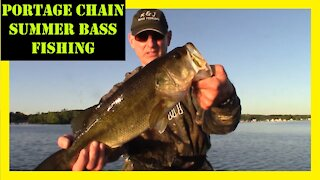 Portage Chain Bass Fishing Pinckney Michigan