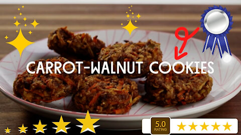 Carrot Walnut Cookies - A Fun and Easy Cookie Recipe For Anytime