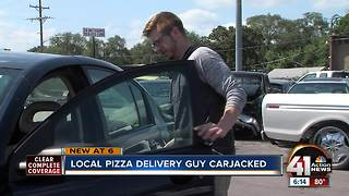 Pizza delivery driver's car stolen during shift - Video