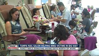 Tampa nail salon helping Irma victims in big way - Video