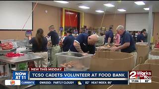 TCSO Cadets volunteer at food bank