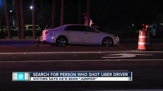 Search for person who shot Uber driver - Video