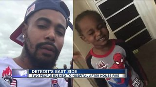 Father & child in critical condition after house fire in Detroit