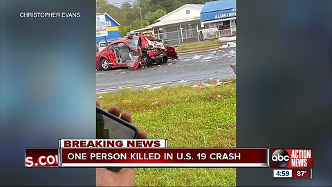 Fatal multi-vehicle crash shuts down southbound US-19 in Hudson