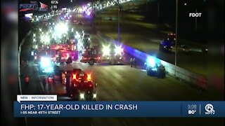 17-year-old boy killed after crash on Interstate 95 in West Palm Beach