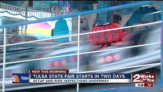 Preparations underway at Tulsa State Fair - Video