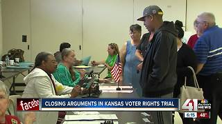 Judge hears closing arguments in Kansas voter law trial - Video
