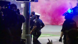 Tear gas deployed in downtown Detroit