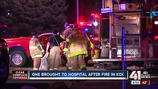 1 person hospitalized after fire at KCK retirement home - Video