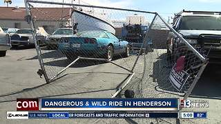 Destruction caused by man's wild ride in Henderson - Video