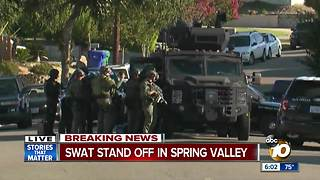 SWAT standoff in Spring Valley - Video