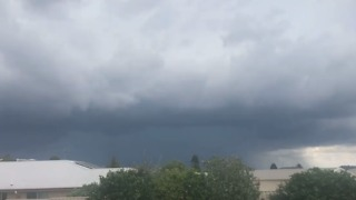 Storms Bringing Lightning and Hail Roll Over Toowoomba - Video