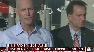 Gov. Scott updates reporters about Ft Lauderdale Airport reopening - Video