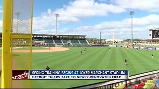 Spring Training begins at Joker Marchant Stadium - Video
