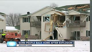 Some Beaver Dam apartment residents allowed back in after explosion - Video
