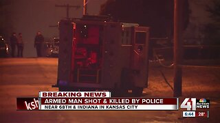 Armed man shot, killed by police