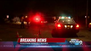 Man has serious injuries after hit and run near Tucson and Broadway - Video