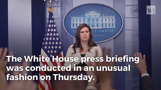 Sarah Sanders Kicks Off Press Briefing With Video Of A 'Special Guest' - Video