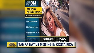 Tampa native reported missing in Costa Rica