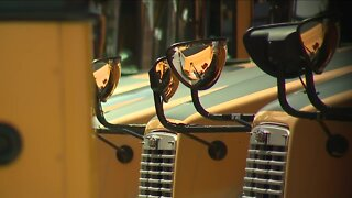 Classes may be online, but school buses still rolling