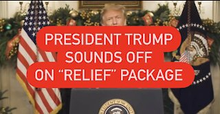 President Trump Sounds Off On Covid Relief Package