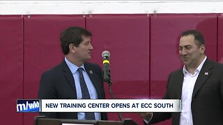 ECC opens new indoor facility with turf donated from New Era Field