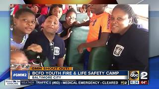 BCFD Youth Fire and Life Safety Camp Shout Out - Video