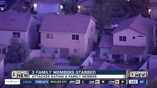 3 family members stabbed on Wednesday - Video