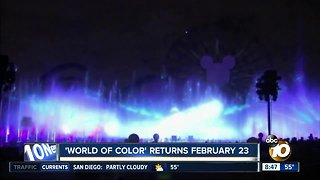 World of Color returns to Disney California Adventure