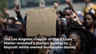 Black Lives Matter Group Announces Plans for 'Black Xmas' - Video