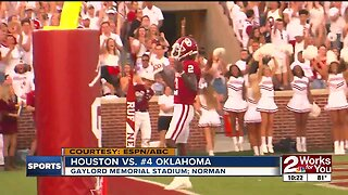 Jalen Hurts racks up more than 500 total yards, 6 TDs as #4 Oklahoma opens season with 49-31 defeat of Houston
