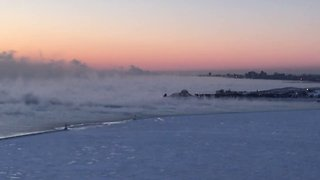 Polar vortex turns Lake Michigan into Siberia